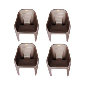 online shopping store Arofer Cute Plastic Chair – Brown Color