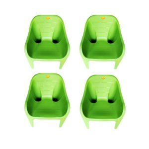 online shopping store Arofer Cute Plastic Chair - Brown Color (Pair 4 Set)