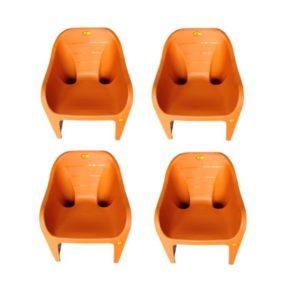 online shopping store Arofer Cute Plastic Chair - Orange Color