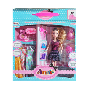 Annie Fashion Barbie Green with Dresses And Makeup Accessories online shopping store